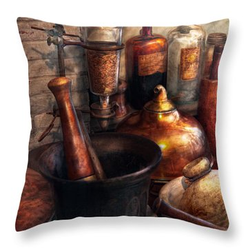 Pharmacy - Pestle - Pharmacology Throw Pillow