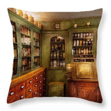 Pharmacy - Room - The Dispensary Throw Pillow by Mike Savad