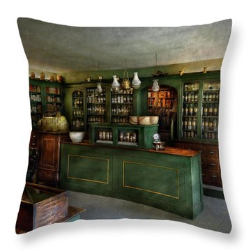 Pharmacy - The Chemist Shop  Throw Pillow by Mike Savad