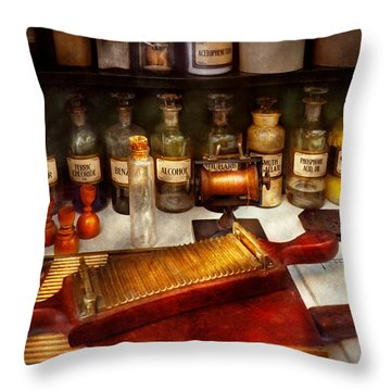 Pharmacy - The Dispensary  Throw Pillow by Mike Savad
