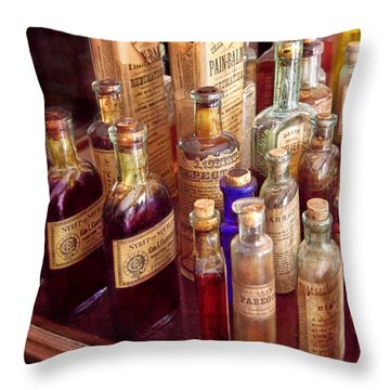 Pharmacy - The Selection  Throw Pillow by Mike Savad