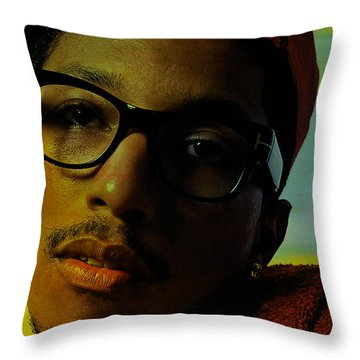 Pharrell Williams Throw Pillow by Marvin Blaine