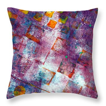 Phase Series - Picking Up The Pieces Throw Pillow by Moon Stumpp