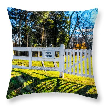 Phelps Cemetery  Throw Pillow by Mary Carol Story