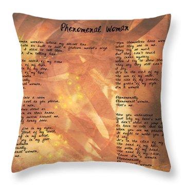 Phenomenal Woman -golden Stars Throw Pillow