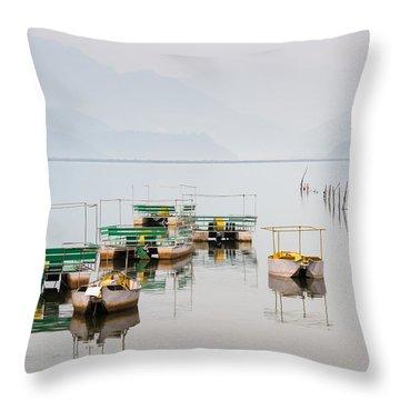 Phewa Lake In Pokhara Nepal Throw Pillow