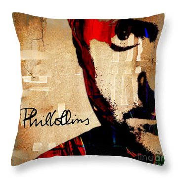 Phil Collins Collection Throw Pillow