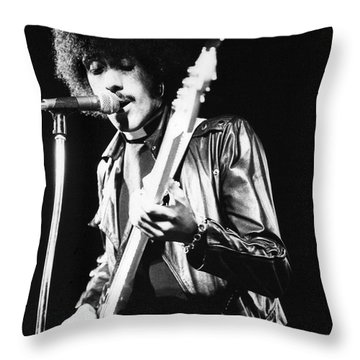 Phil Lynott Throw Pillow by David Fowler