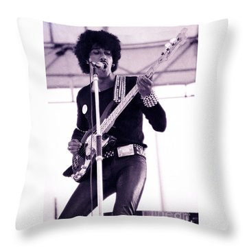 Phil Lynott Of Thin Lizzy Black Rose Star Effect Day On The Green 4th Of July 1979 - Unreleased No 3 Throw Pillow
