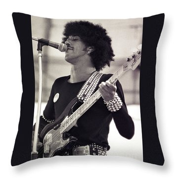 Phil Lynott Of Thin Lizzy Black Rose Tour At Day On The Green 4th Of July 1979 - Unreleased  Throw Pillow