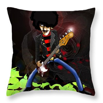 Phil Lynott Of Thin Lizzy Throw Pillow