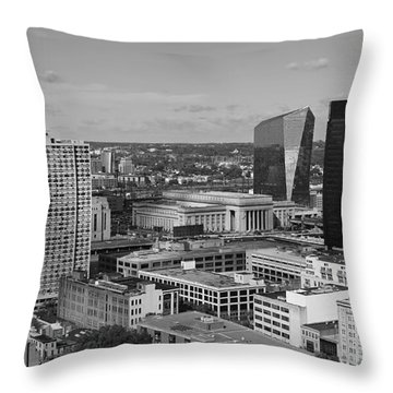 Philadelphia - A View Across The Schuylkill River Throw Pillow by Rona Black
