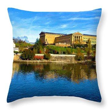 Philadelphia Art Museum  2009 Throw Pillow by Bill Cannon
