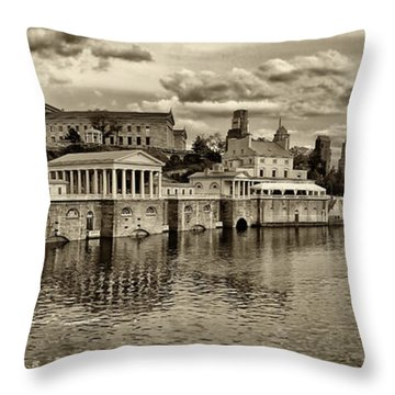 Philadelphia Art Museum 8 Throw Pillow by Jack Paolini