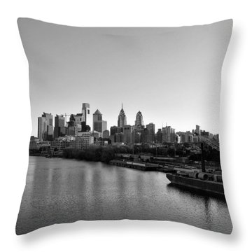 Philadelphia Black And White Throw Pillow