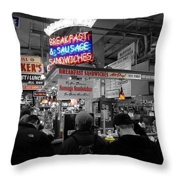 Philadelphia - Breakfast At Smucker's Throw Pillow