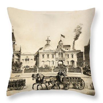 Philadelphia Brewery Throw Pillow