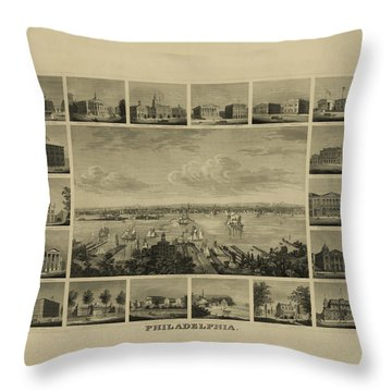 Philadelphia By J Serz Throw Pillow