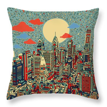 Philadelphia Dream 2 Throw Pillow by Bekim Art