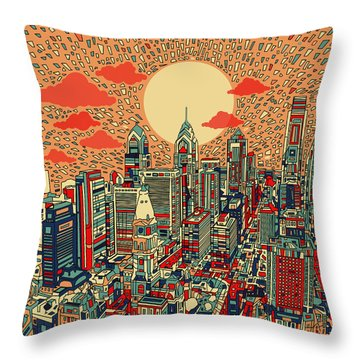Philadelphia Dream Throw Pillow by Bekim Art