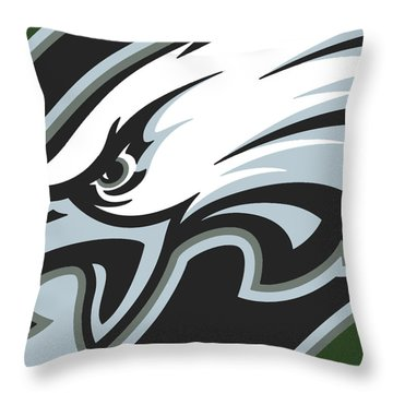 Philadelphia Eagles Football Throw Pillow by Tony Rubino