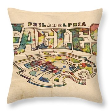 Philadelphia Eagles Poster Art Throw Pillow