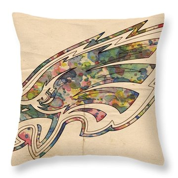 Philadelphia Eagles Poster Vintage Throw Pillow
