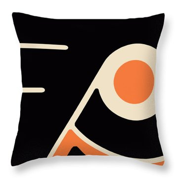 Philadelphia Flyers Throw Pillow by Tony Rubino