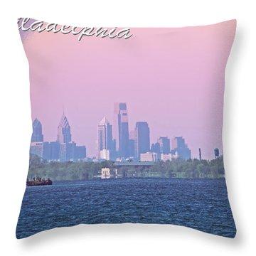Philadelphia  Throw Pillow by Tom Gari Gallery-Three-Photography