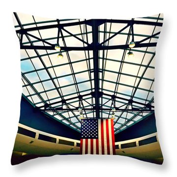Philadelphia International Airport  Throw Pillow