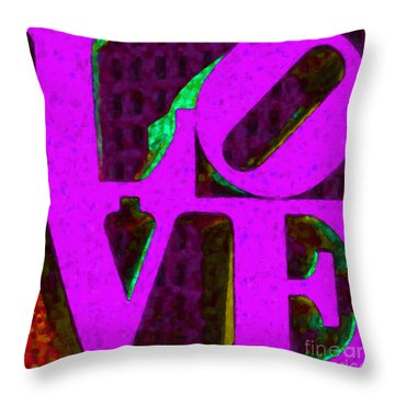 Philadelphia Love - Painterly V2 Throw Pillow