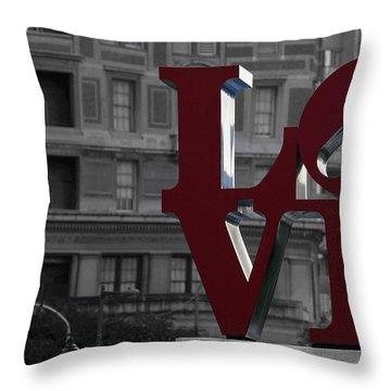 Philadelphia Love Throw Pillow