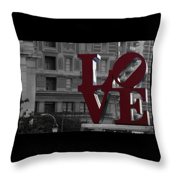 Philadelphia Love Throw Pillow