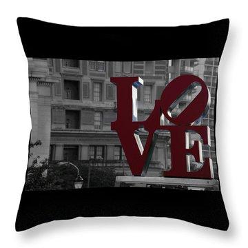 Philadelphia Love Throw Pillow by Terry DeLuco