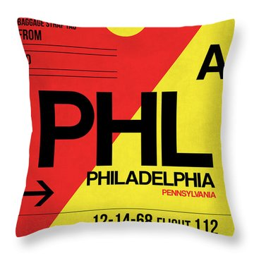 Philadelphia Luggage Poster 2 Throw Pillow