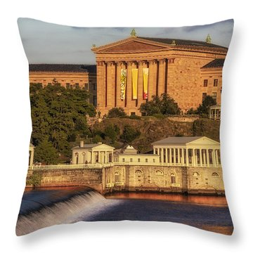 Philadelphia Museum Of Art Throw Pillow by Susan Candelario