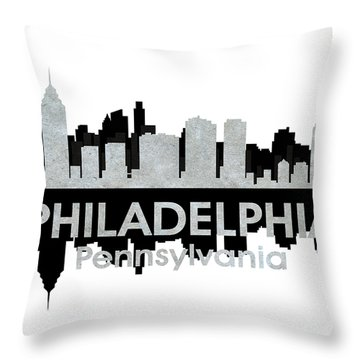 Philadelphia Pa 4 Throw Pillow by Angelina Vick