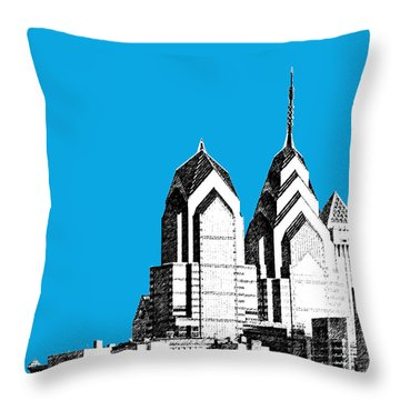 Philadelphia Skyline Liberty Place 1 - Ice Blue Throw Pillow by DB Artist