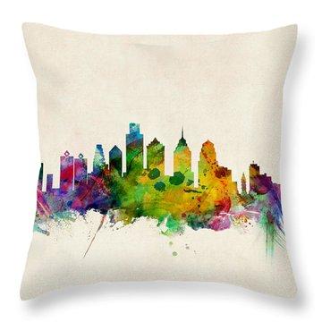 Philadelphia Skyline Throw Pillows
