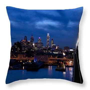 Philadelphia Twilight Throw Pillow
