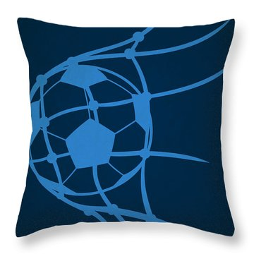 Philadelphia Union Goal Throw Pillow by Joe Hamilton