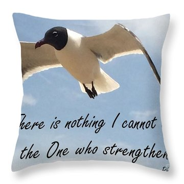 Throw Pillow featuring the photograph Philippians 4 13 By Saribelle Rodriguez by Saribelle Rodriguez