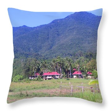Philippine Farmhouse Throw Pillow