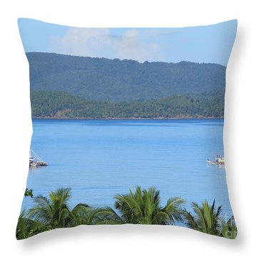 Philippine Working Yachts Throw Pillow