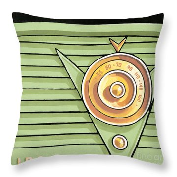 Phillips Radio - Green Throw Pillow