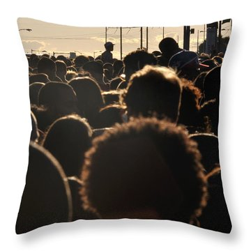 Philly 4th Of July Jam Crowd Throw Pillow