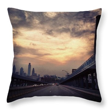 Philly Throw Pillow by Katie Cupcakes