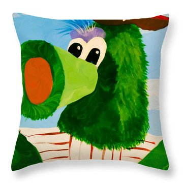 Philly Phanatic Throw Pillow