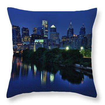 Philly Skyline Throw Pillow