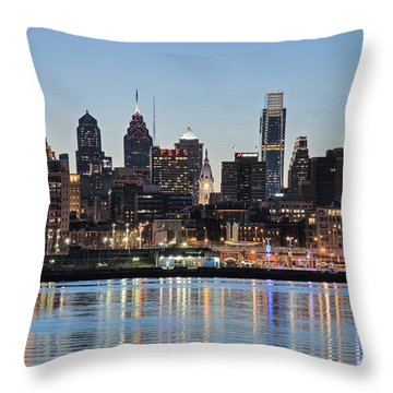 Philly Sunset Throw Pillow